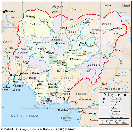 Maps of Nigeria